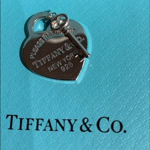 Tiffany & Co. Sterling Silver RTT Heart and Key